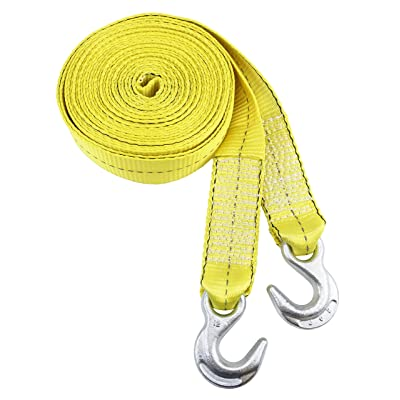 Reese 9426500 30 ft 30' Reflective Tow Strap with Hook Ends: Automotive