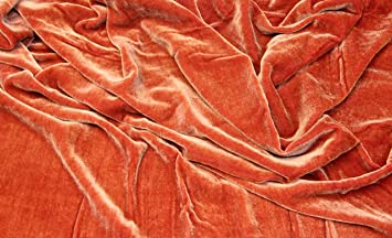 Burgundy Red SWATCH Designer Silk /& Rayon Velvet Fabric
