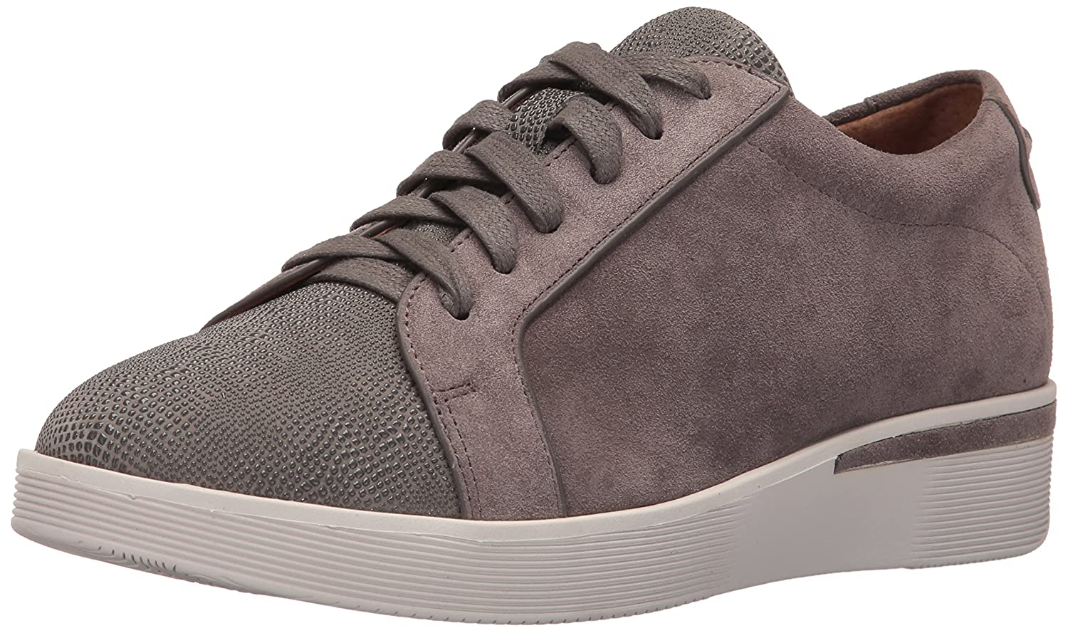 Gentle Souls by Kenneth Cole Women's Haddie Low Profile Fashion Sneaker Embossed Fashion Sneaker B01LYFKT09 7.5 M US|Concrete