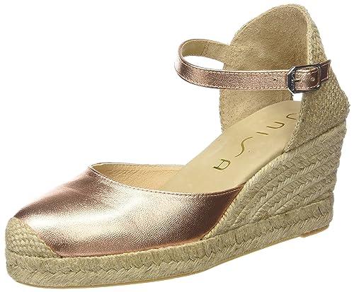 Unisa Caceres_16_SM, Alpargatas para Mujer, Rosa-Pink (Ballet), 39 EU: Amazon.es: Zapatos y complementos