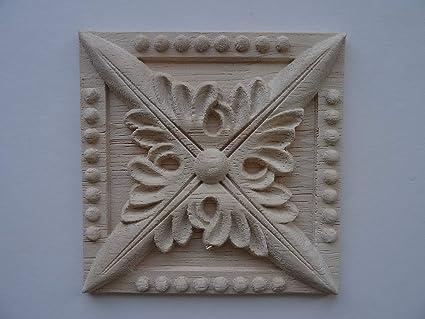 Decorativa in legno quadrato per piastrelle applique mobili