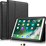 """KAVAJ iPad Case 2017 Leather Cover """"Berlin"""" for Apple iPad 2017 (5th Gen.) Black Genuine Cowhide Leather with Built-in Stand Auto Wake/Sleep Function. Slim Fit Smart Folio covers for iPad 2017"""