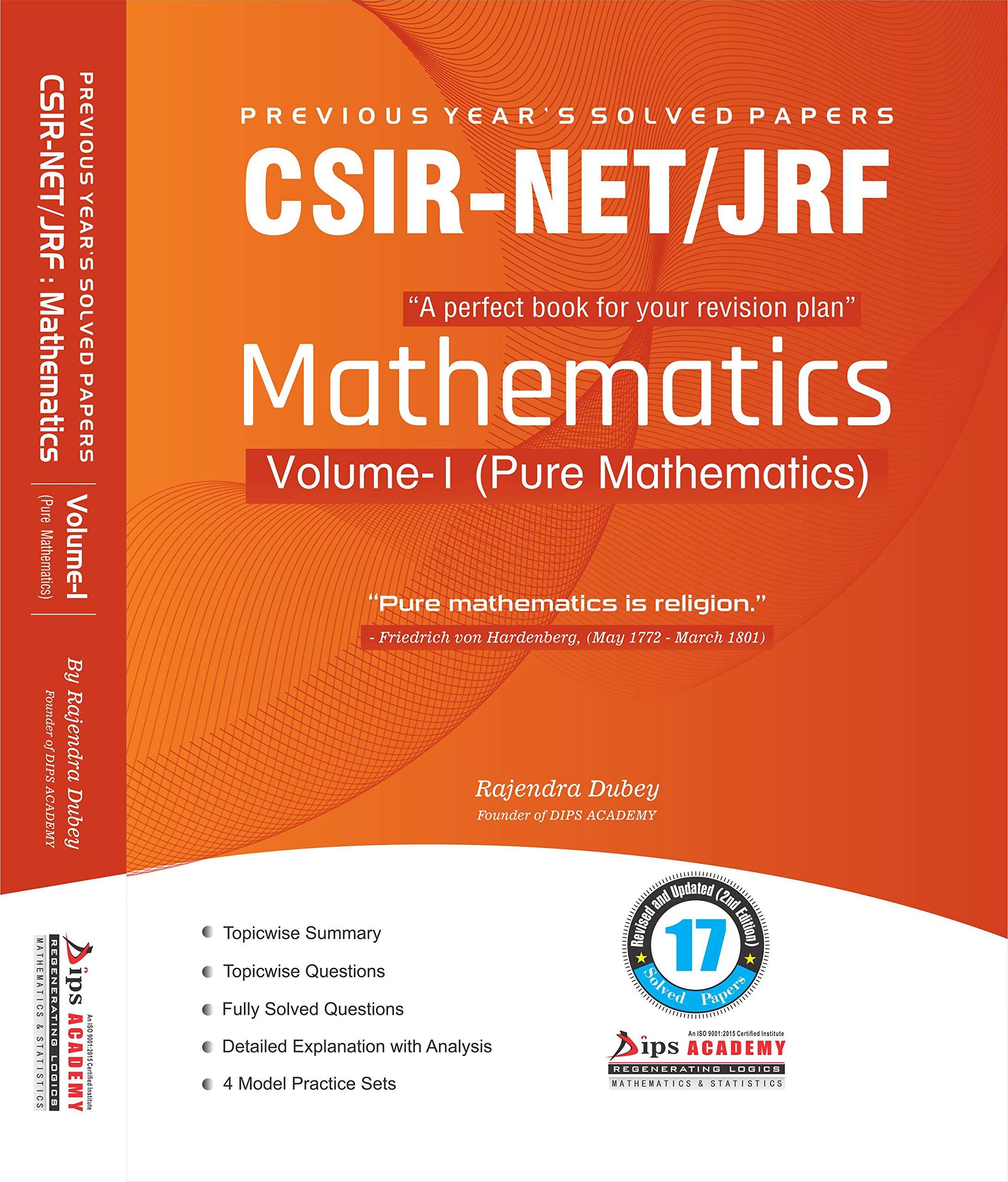 Buy CSIR NET Mathematics Solution Book | Volume-1 (Pure