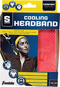Franklin Sports Cooling Towel - Cooling Headband - Sports - Sports Headband - Sideline Cooling Headband - Pink