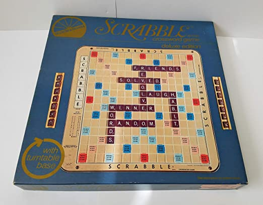 Scrabble Deluxe 1977 Edition Plastic rotating Turntable game Board With Grid by Selchow & Righter: Amazon.es: Juguetes y juegos
