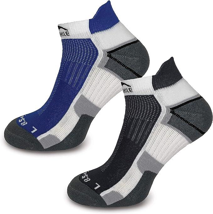 3 Pairs More Mile London Running Socks Sports Padded Padded Mens Ladies