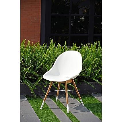 Excellent Amazon Com Amazonia Hawaii Patio Dining Chair Set White Spiritservingveterans Wood Chair Design Ideas Spiritservingveteransorg