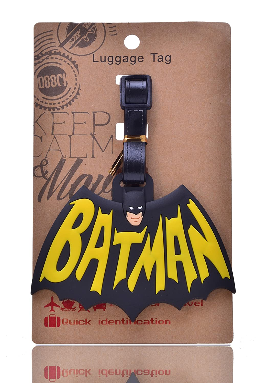 REINDEAR Batman Logo Heavy Duty Baggage Luggage Tag US Seller