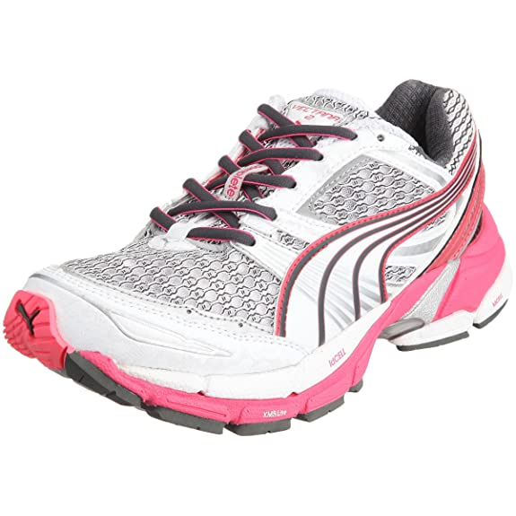 Puma - Zapatillas de Running, Color White/Fluo Pink/Puma Silver/Dark Shadow, Talla 42.5: Amazon.es: Zapatos y complementos