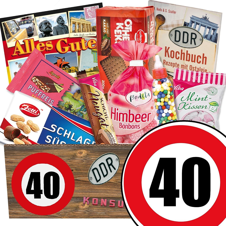 Ostalgie Set | Geburtstags Geschenk Papa | Zahl 40 | Suessigkeiten ...