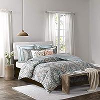 Echo Design Sterling Duvet Cover King Size - Teal Green , Damask Duvet Cover Set – 3 Piece – Cotton Light Weight Bed…