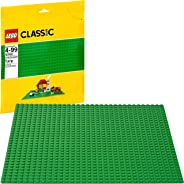LEGO Classic Green Baseplate Supplement for Building, Playing, and Displaying LEGO Creations, 10 x 10 inches, Large Building
