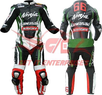 Traje de moto Kawasaki Ninja de cuero: Amazon.es: Coche y moto