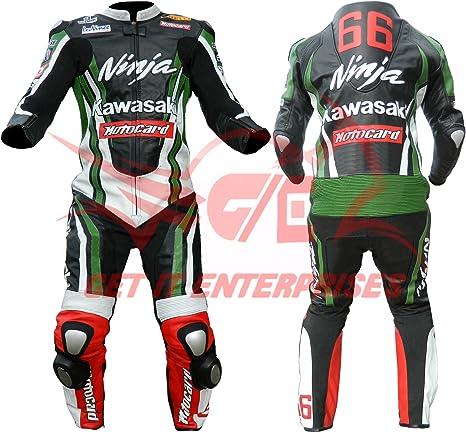 Traje de moto Kawasaki Ninja de cuero