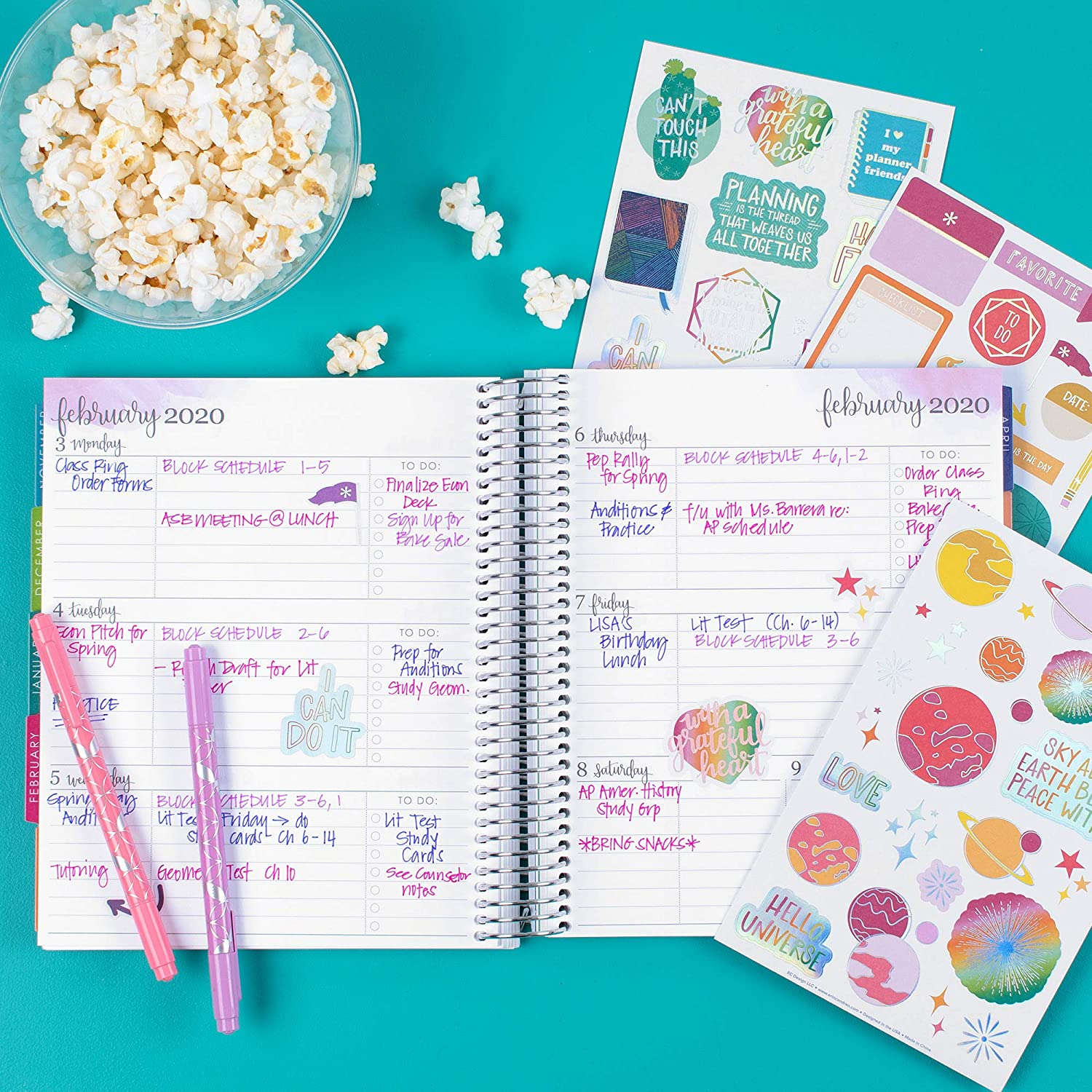 Erin Condren Out of This World - Pack de pegatinas (3 hojas ...