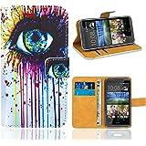 HTC Desire 820 Housse Coque, FoneExpert Etui Housse Coque en Cuir Portefeuille Wallet Case Cover pour HTC Desire 820