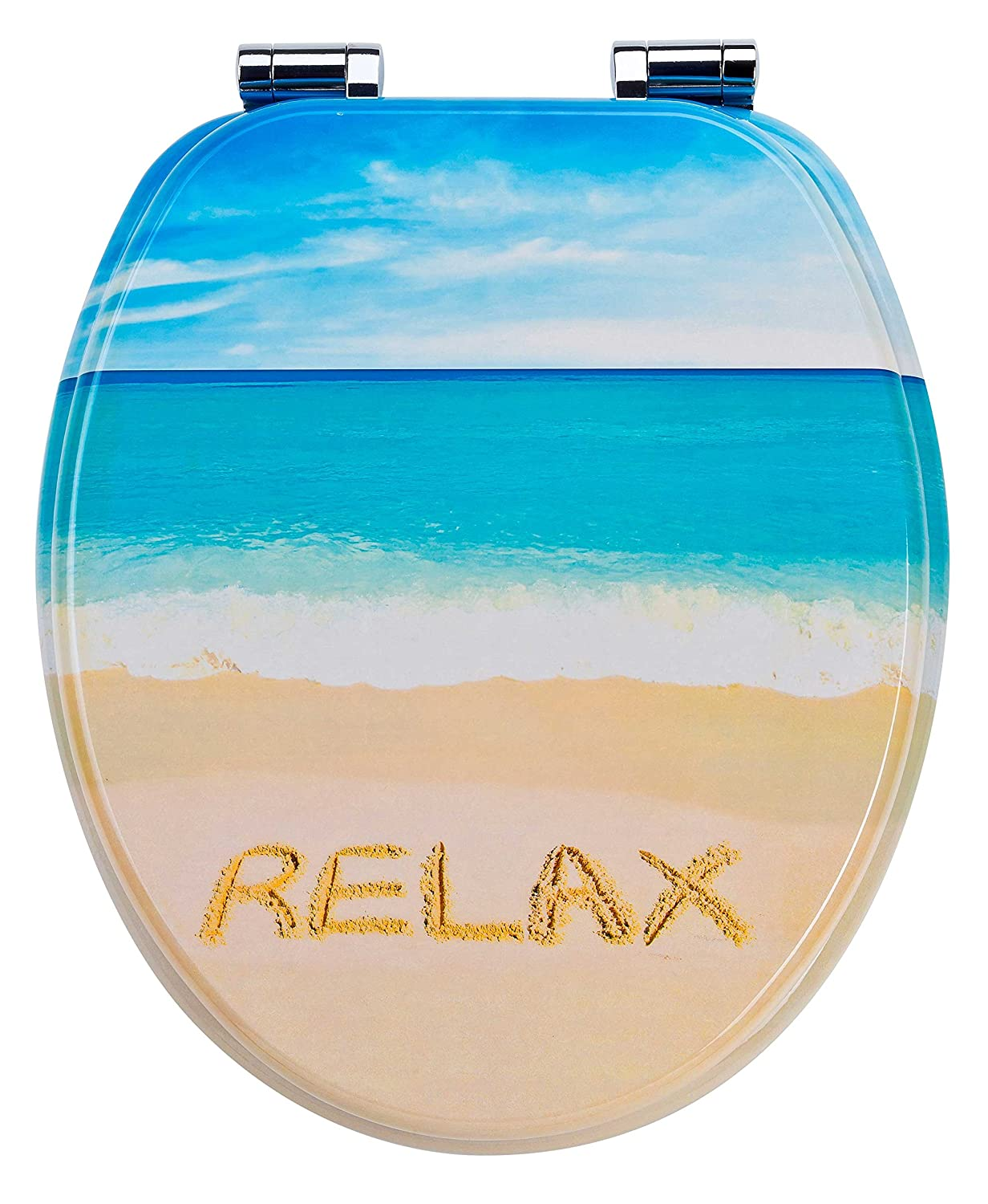 Relax EISL Asia Toilet Seat with Soft Closing Mechanism, Multi Coloured, EDTR01SC