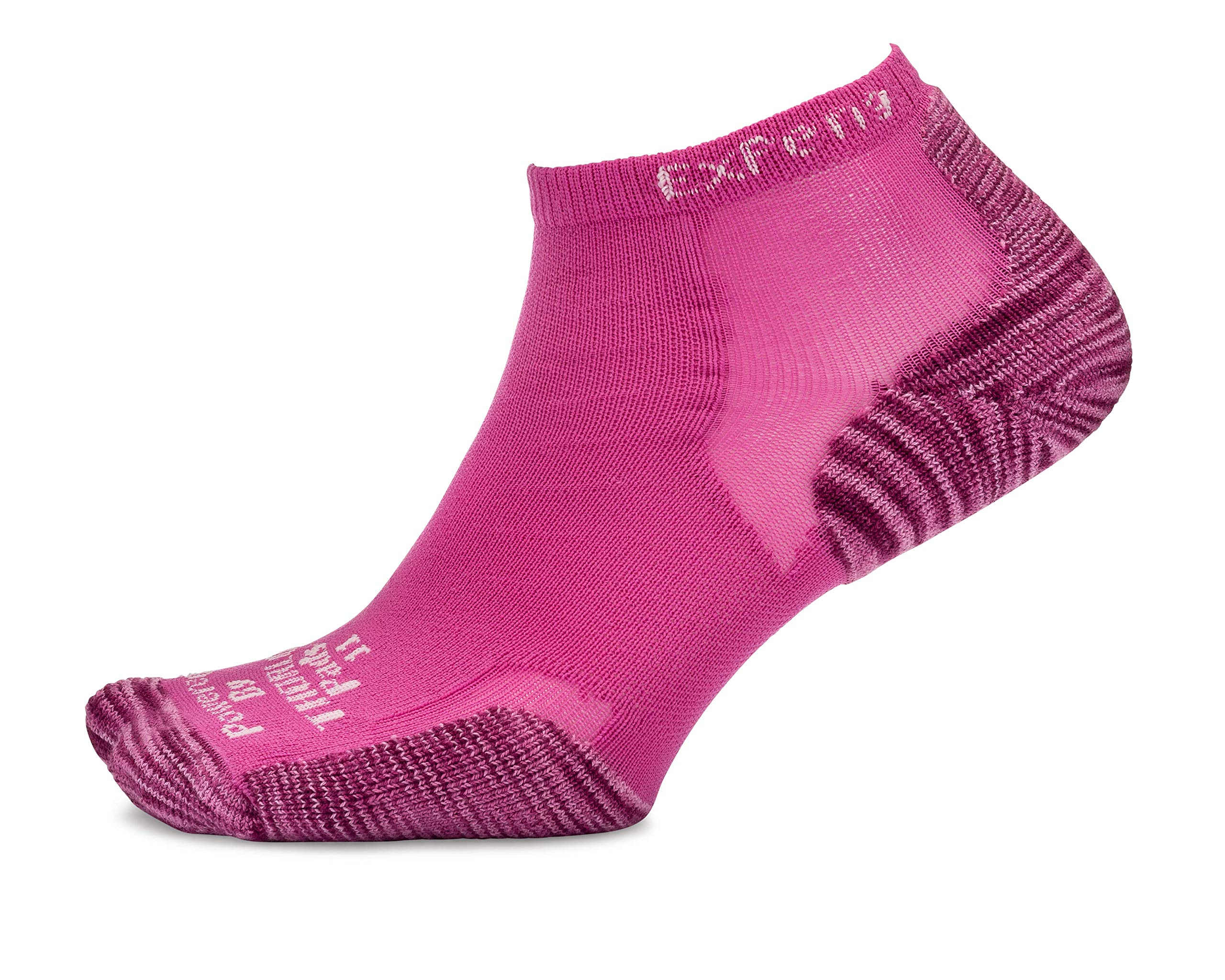 Thorlos Experia XCCU Thin Cushion Running Low Cut Sock, Tiger Paw Rose Violet, XS by Thorlos Experia