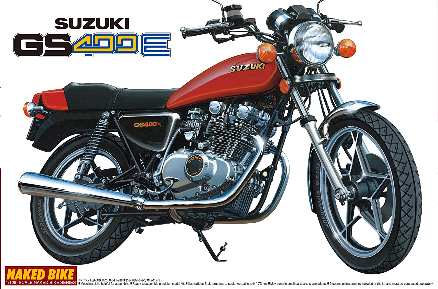 Amazon com: 1/12 SUZUKI GS400E (japan import) by Aoshima