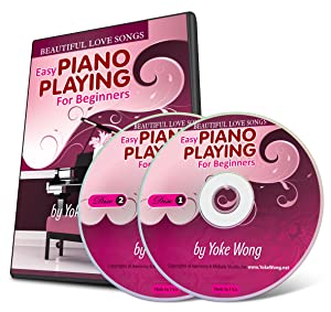 Beautiful Love Songs - Easy Piano Lessons for Beginners (2 DVDs, 1 Songbook)