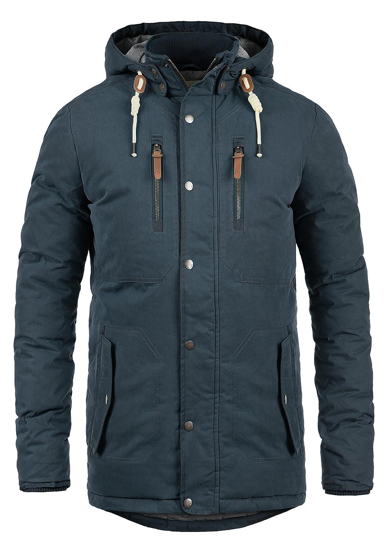 !Solid Dry Jacque Herren Winterjacke Parka Herrenjacke Lange Jacke Mit Abnehmbarer Kapuze
