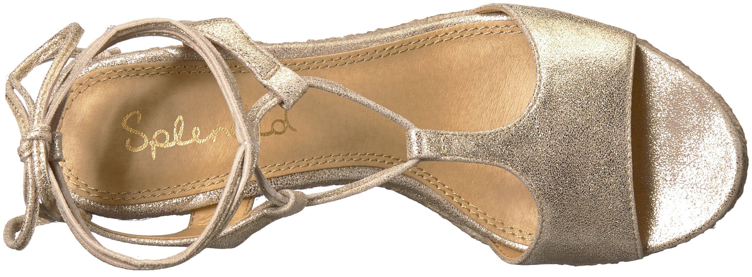 Splendid Women's Fianna Wedge Sandal, Gold, 9 Medium US