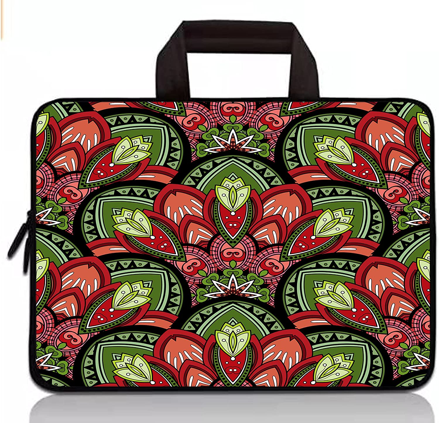 14 Inch Laptop Protective Sleeve Computer Case Bag for Dell Inspiron 14 5481 5482/ HP Stream 14/ Acer Swift Spin 3/Lenovo Ideapad 3/Chromebook 14 S330 / Flex 5 14 Notebook Briefcase-Boho Flower