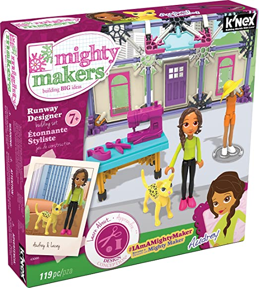K'NEX – Mighty Makers Runway Designer Building Set – 119 Pieces – Ages 7+ Construction Education Toy
