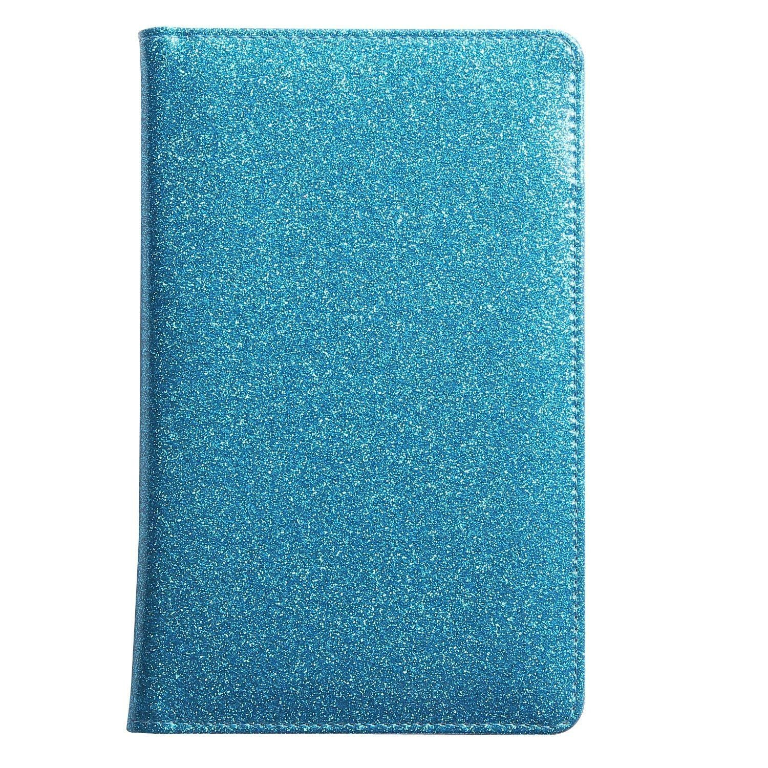 Glitter Server Book for Waitress Book Server Wallet Waiter Book Cute Bling Waitstaff Organizer Fit Waitress Apron (Blue Green Teal Turquoise) by Zreal