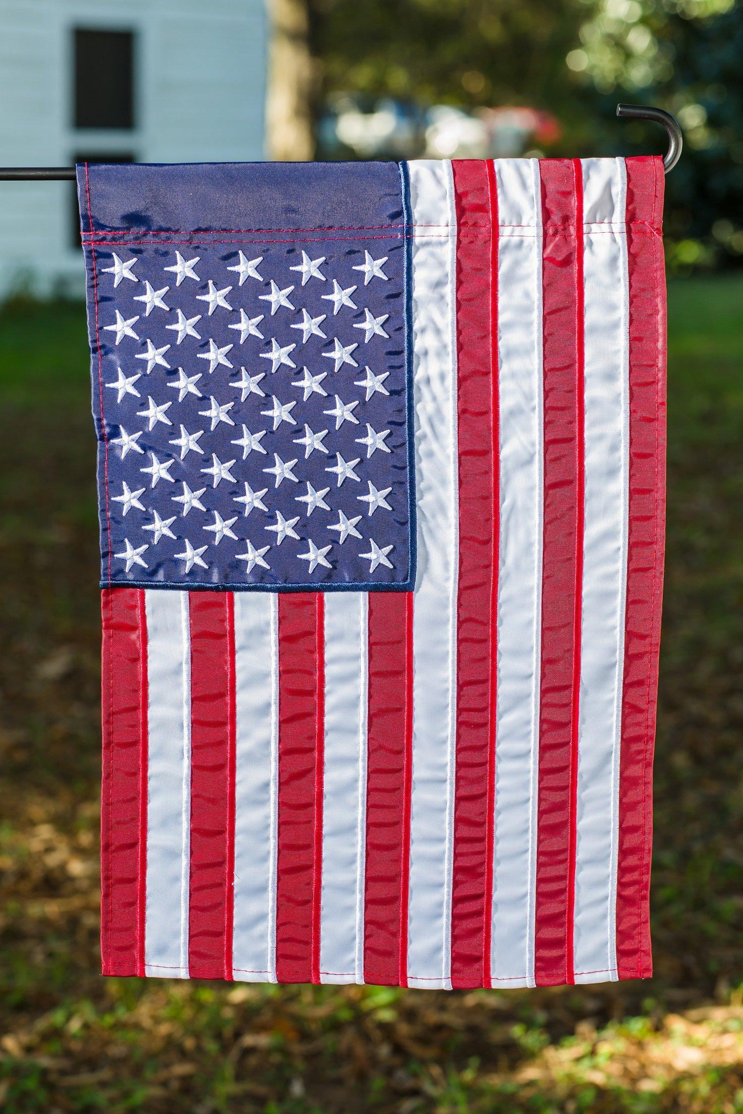 18 X 12 5 Evergreen Flag American Double Sided Denier Nylon Garden Flag Flags