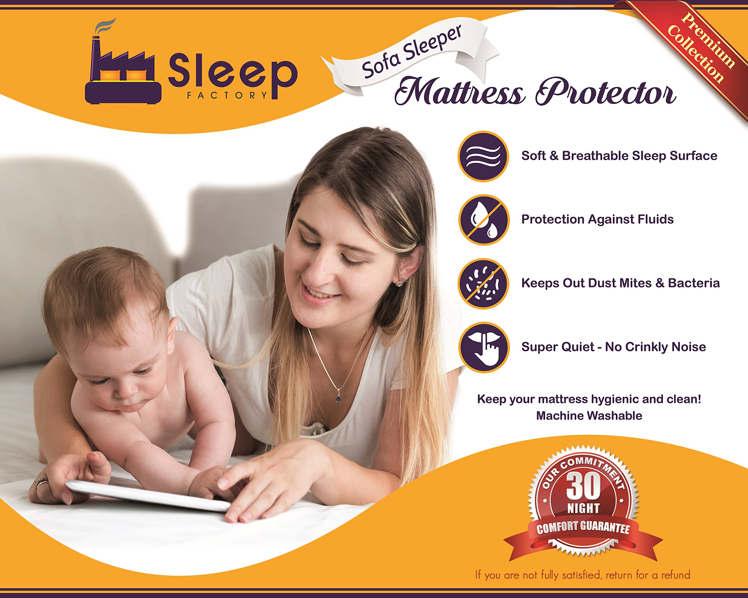"""Sleep Factory - Mattress & Sofa Bed Sleeper Protector 