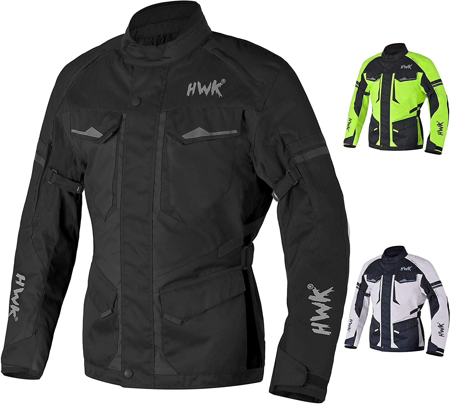 HWK Adventure/Touring Motorcycle Jacket For Men