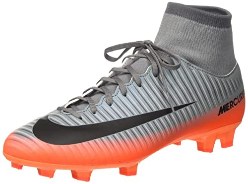 Nike Men's Mercurial Victory VI CR7 DF FG Cool Grey/Mtlc Hematite Soccer  Cleat 9