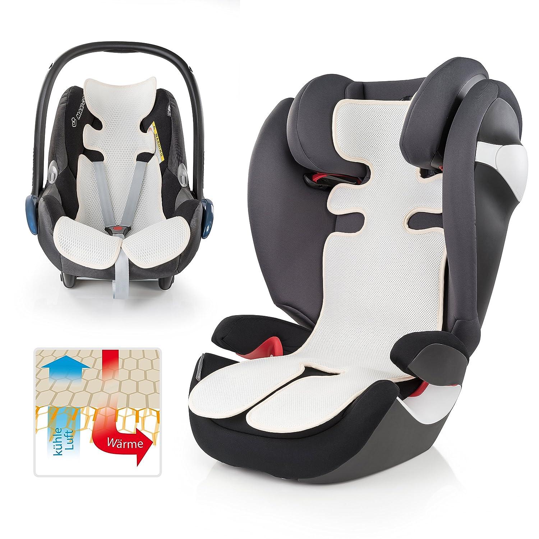 Baby Sitzauflage verringert Schwitzen Ihres Kindes und sch/ützt den Sitzbezug vor Flecken ChicSoleil Baby Sitzauflage Atmungsaktive Sitzeinlage f/ür Kinderwagen 34x67cm