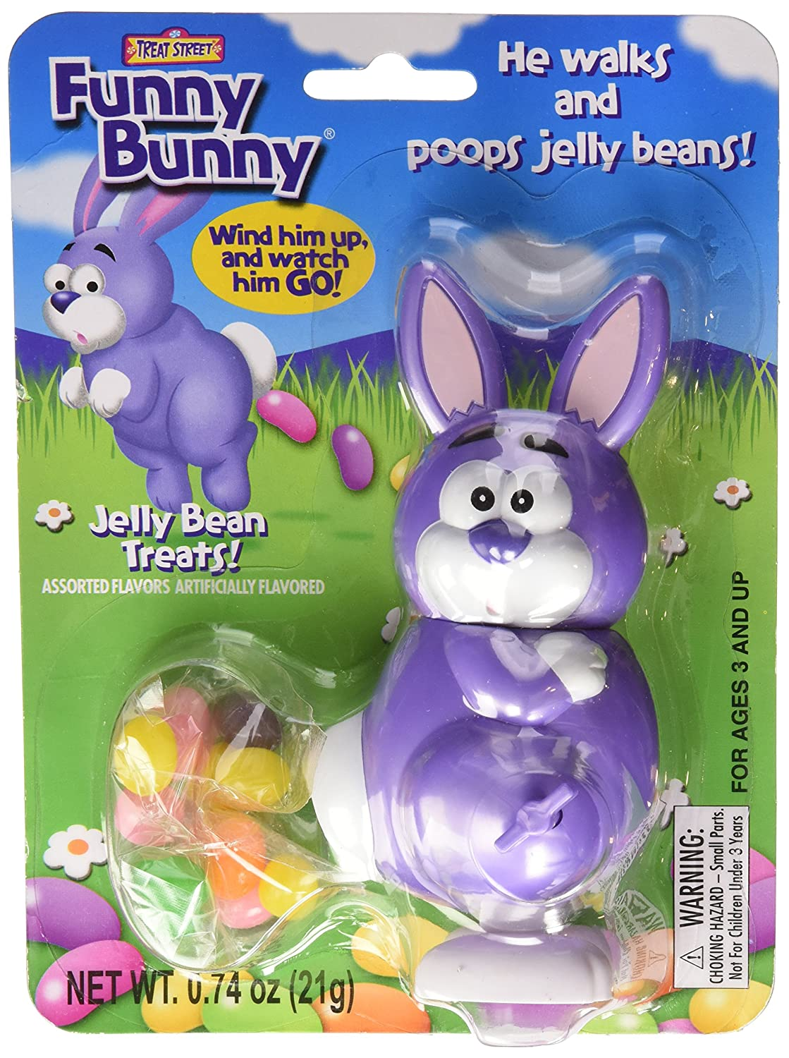 amazon com funny bunny wind up jelly bean pooping easter bunny