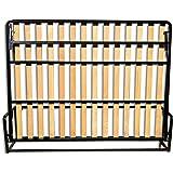 Cama De Matrimonio Abatible Horizontal 135 x 190 cm (cama doble estilo Murphy Bed, cama plegable, sofá cama,…
