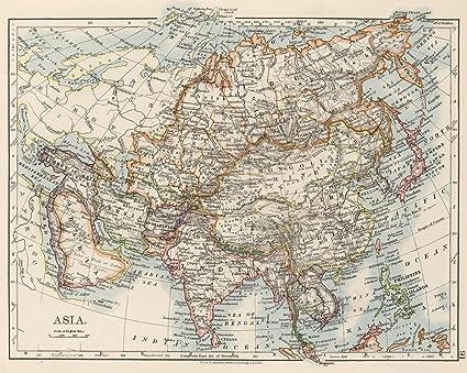 World Atlas Map Of Asia.Amazon Com Historic Map World Atlas 1906 Asia Historical