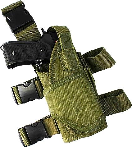 Htuk/® /Étui tactique de pistolet Airsoft pour la jambe Ceinture r/églable