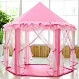 SkyeyArc Princess Playhouse With Lace, Pink Tent, Princess Castle Play Tent, Castle Playhouse, Kids Tents, Great Birthday Gifts For Kids