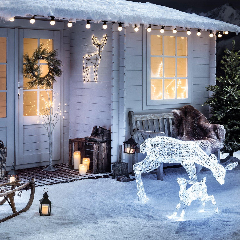 30er LED Osby Stern Timer Batteriebetrieb 23cm Lights4fun: Amazon.de ...