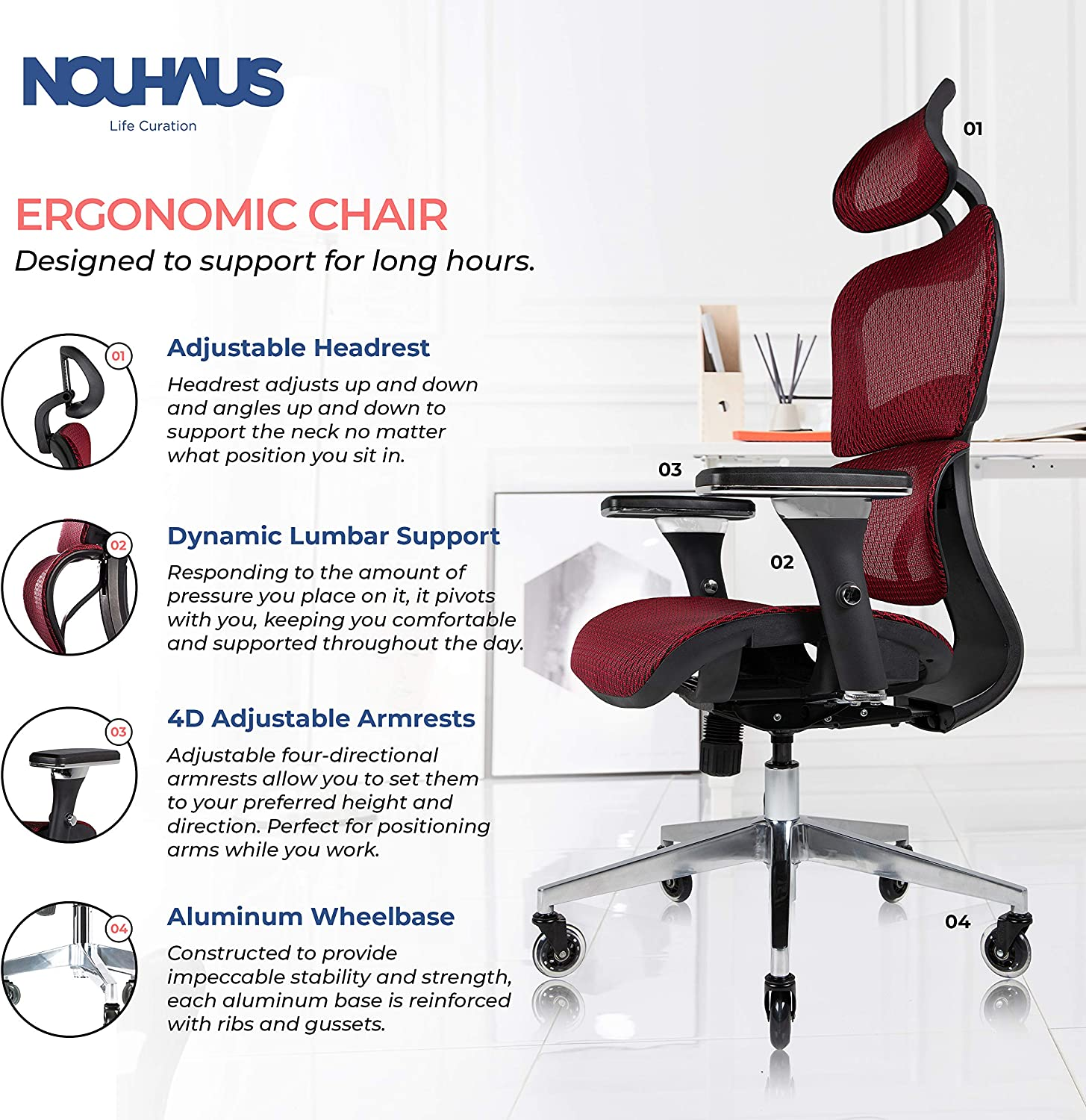 91CLWlLbZmL. AC SL1500 - What is The Best Computer Chair For Long Hours Sitting? [Comfortable and Ergonomic] - ChairPicks