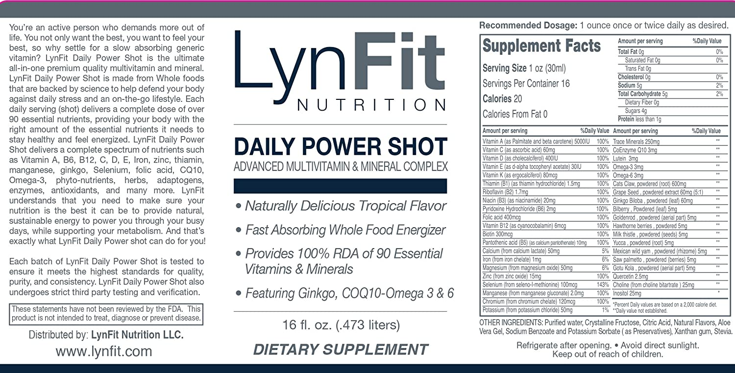 Amazon.com: Daily Power Shot Líquido Multivitamin con ...
