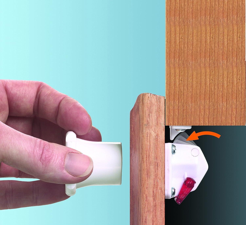 Dreambaby Mag Lock 4 Locks with 1 Key White