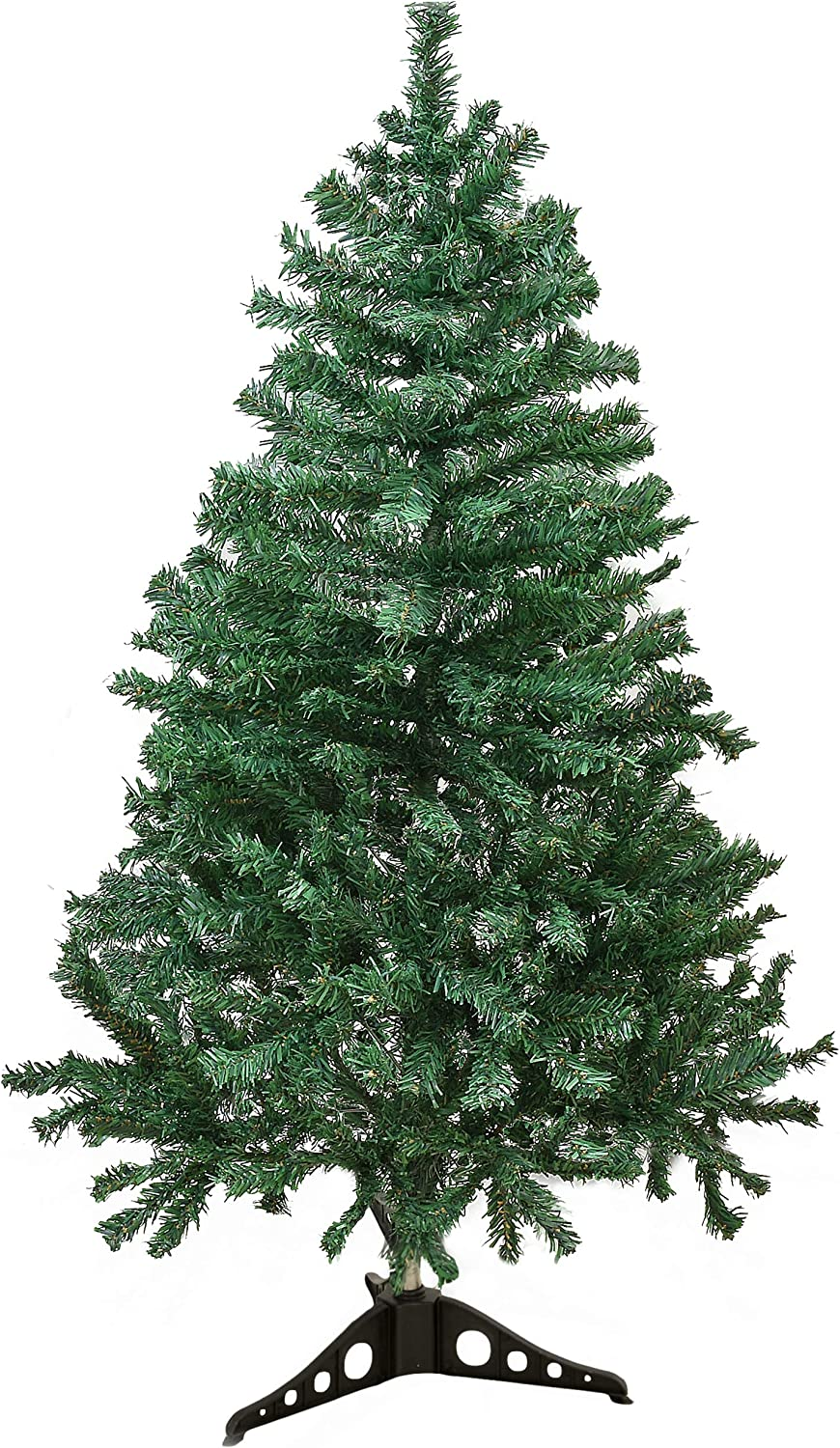Holiday Essence 4 Foot Christmas Tree, 300 Tips Artificial Green Canadian Pine Tree, Unlit Premium Hinged 4 Ft Tall, PVC Base