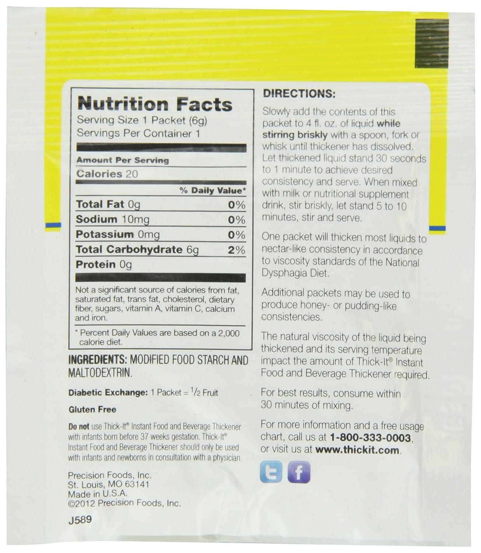 Amazon com : Thick-It Original Food Thickener, 200 Count : Fruit