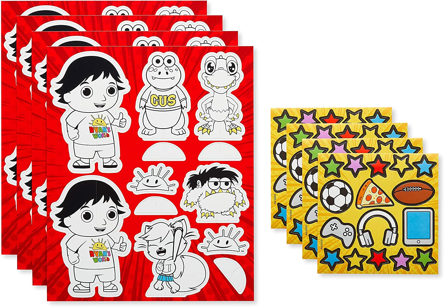 American Greetings Ryan/'s World Party Supplies Activity 8-Count Activity Kit