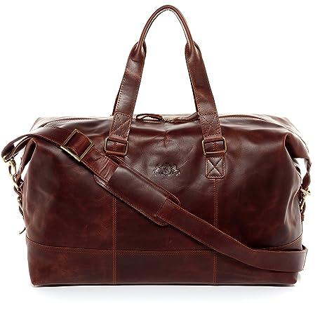 f61b036bd2fd3 SID   VAIN® borsa da viaggio vera pelle vintage YALE grande borsa da  weekend 35