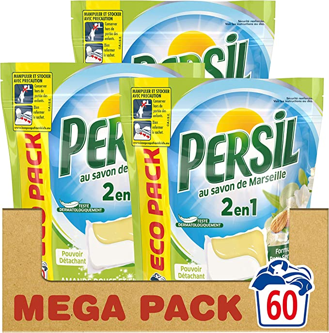 Persil 2 In 1 Laundry Capsules Soft Almond Eco Pack Of 20