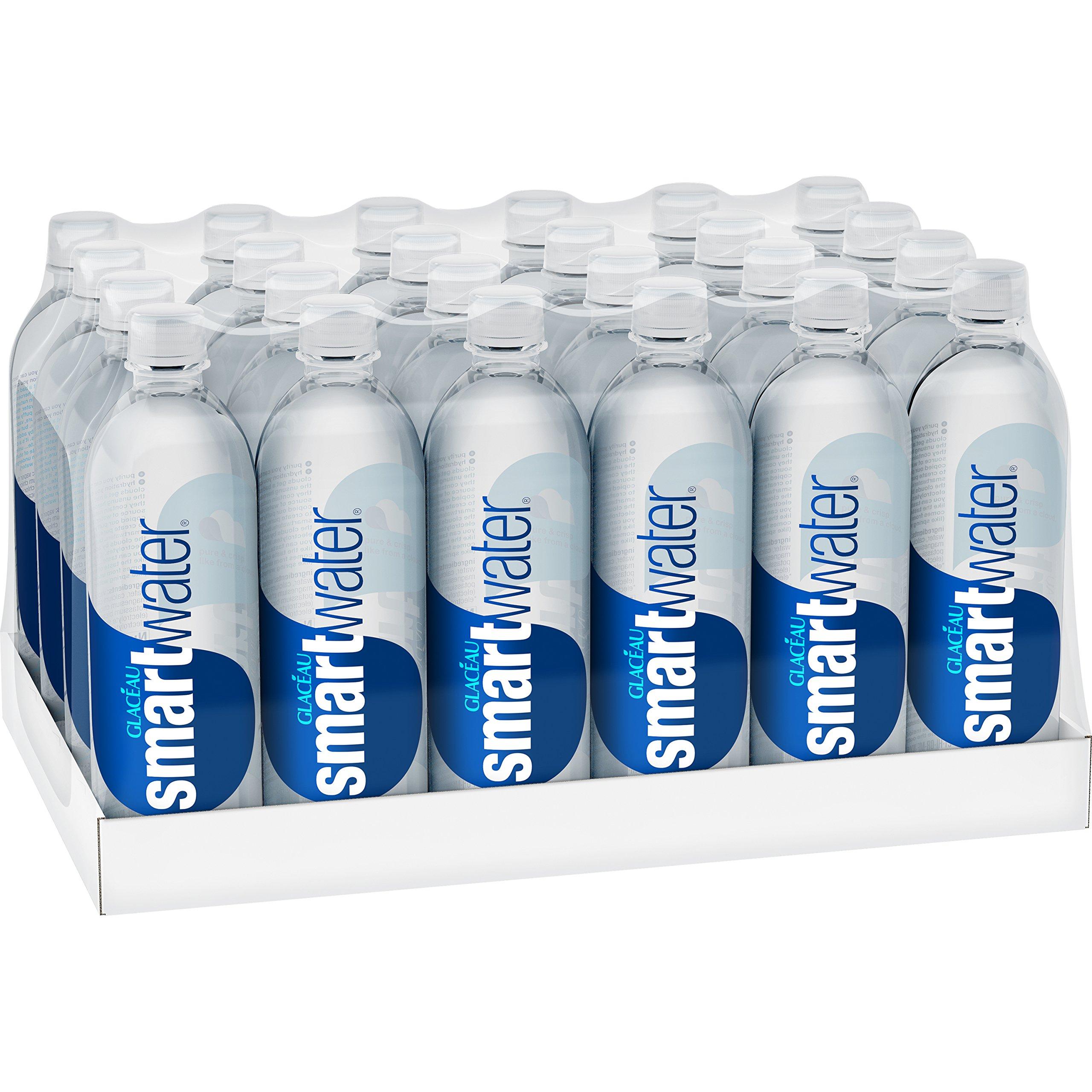 smartwater vapor distilled premium water bottles, 20 fl oz, 24 Pack