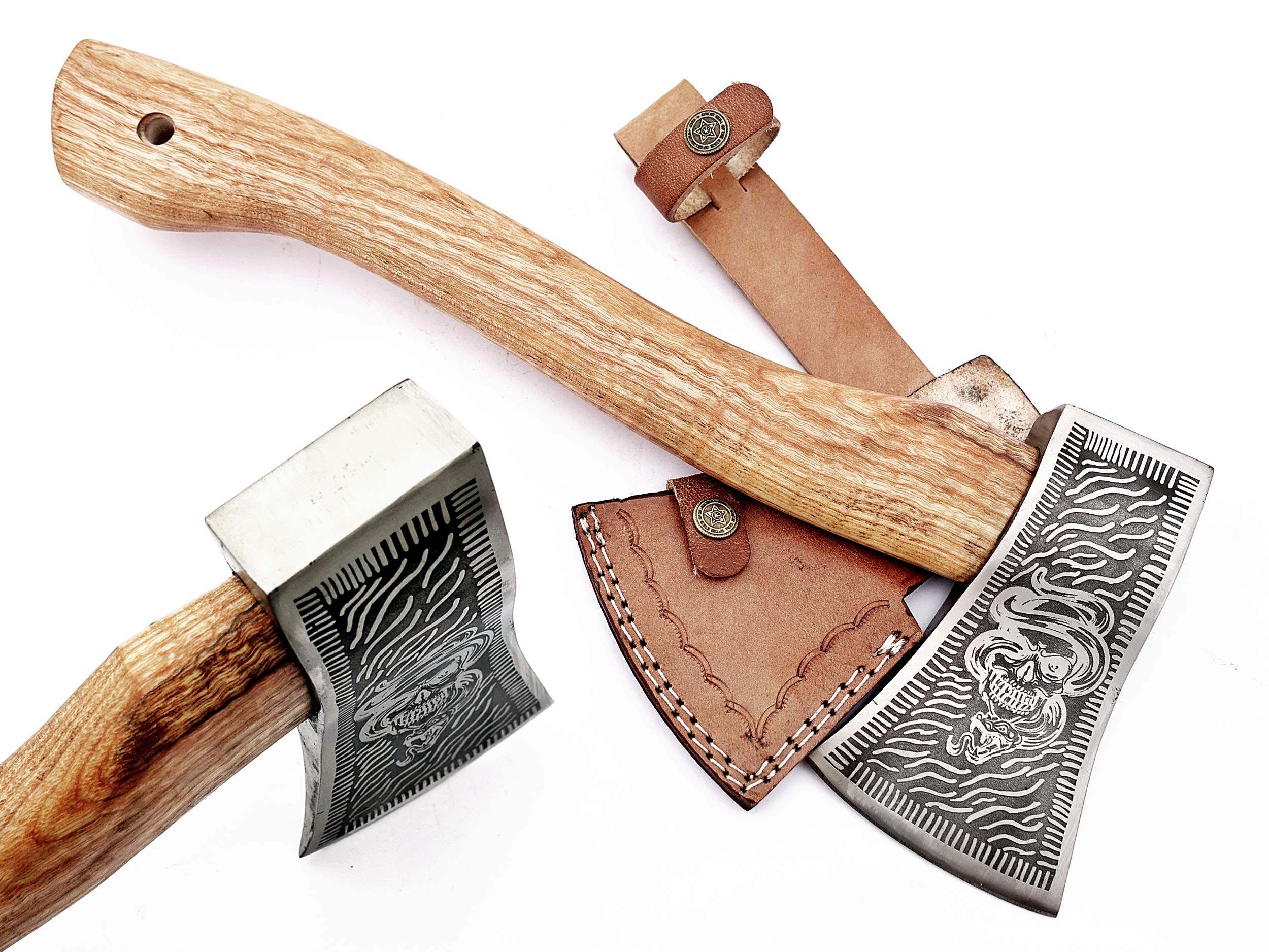 DIST-AX-263, Custom Handmade Stainless Steel Axe-Gorgeous and Solid Wood Handle by Poshland